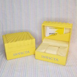 EMPTY Invicta Watch Storage Display Boxes Pair